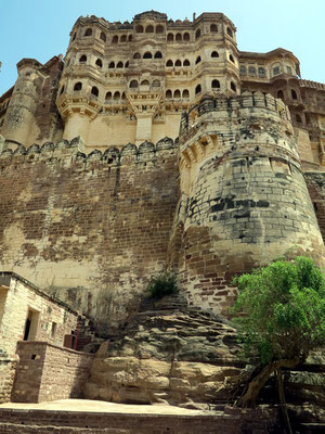 Mehrangarh Fort, Detailansicht der Festung