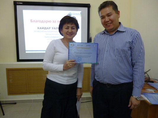 Вручение сертификатов, Атырау, 2014 г.