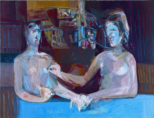 Die Schwestern - Mitte 115 x 150 Öl Lw. 2001