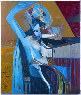 Die Schwestern - Figur_linke Tafel 135 x 115 Öl Lw. 2000