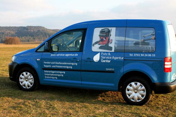 Auto der professionellen Gebäudereinigungsfirma Putz & Service Agentur Ganter aus Rottweil