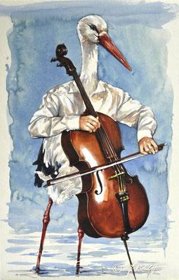 """""""Meister Langbehn""""Aquarell und Zeichnung auf Karton. Format ca. 50 x 40 cm. Preis 840.- Euro"""