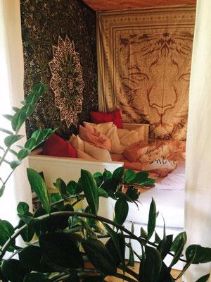 Beruhigende Wandtuch Dekoration im Schlafzimmer