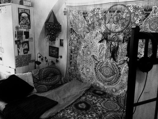 Wandtuch Fatimas Hand weiß grau