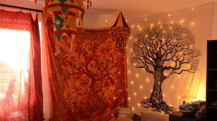Wandtücher mit Lebensbaum und Weltenbaum