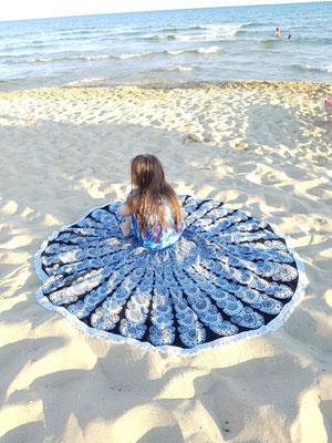 Mandala Strandtuch im Urlaub