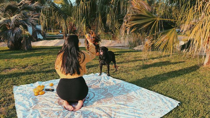Viel Platz zum sitzen und einfach zu verstauen: Große Mandala Picknicktücher