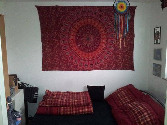 Variante rot weiß als Schlafzimmer Wandbehang
