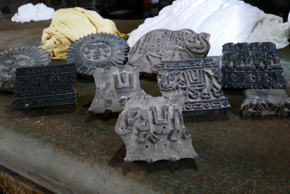Stempel für den traditionellen Blockdruck von Wandtüchern