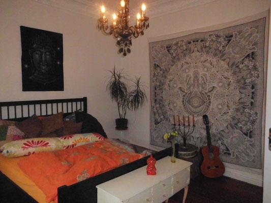 Variante weiß grau im Schlafzimmer