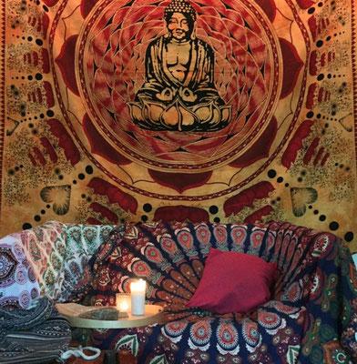 Runde Mandala Tücher ideal als Möbel Überwurf