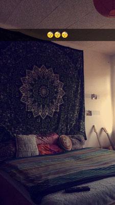 Beruhigende Wandtuch Szenerie im Schlafzimmer