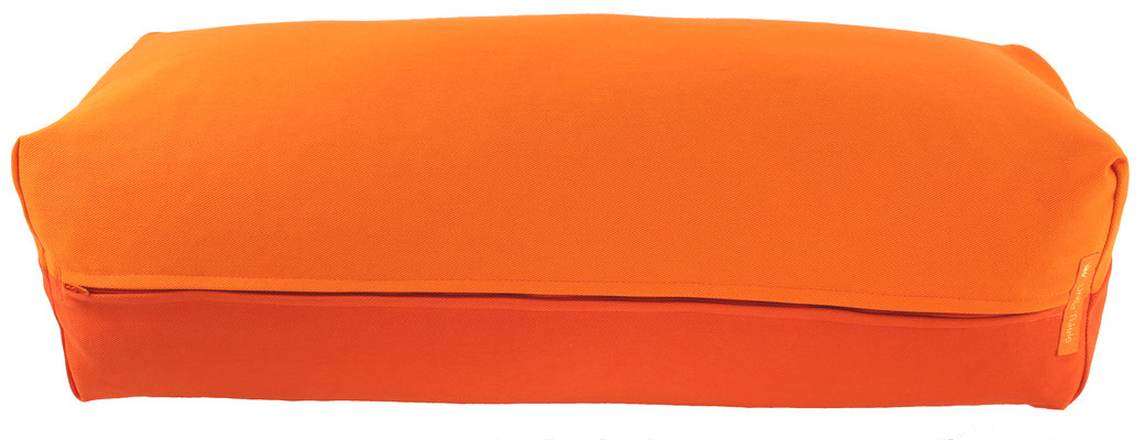 Yoga Bolster eckig Köln orange + dunkelorange