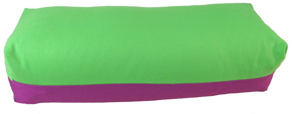 Yoga Bolster eckig Köln giftgrün + rotviolett