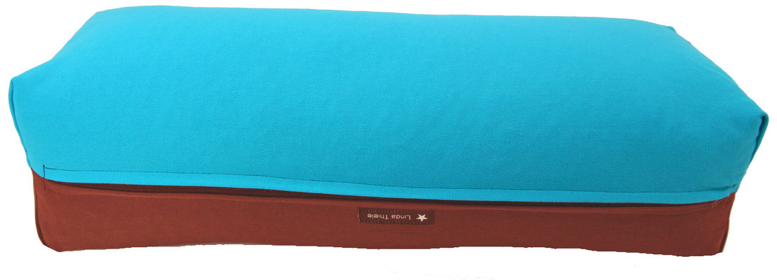 Yoga Bolster eckig Colorline türkis + bordeaux