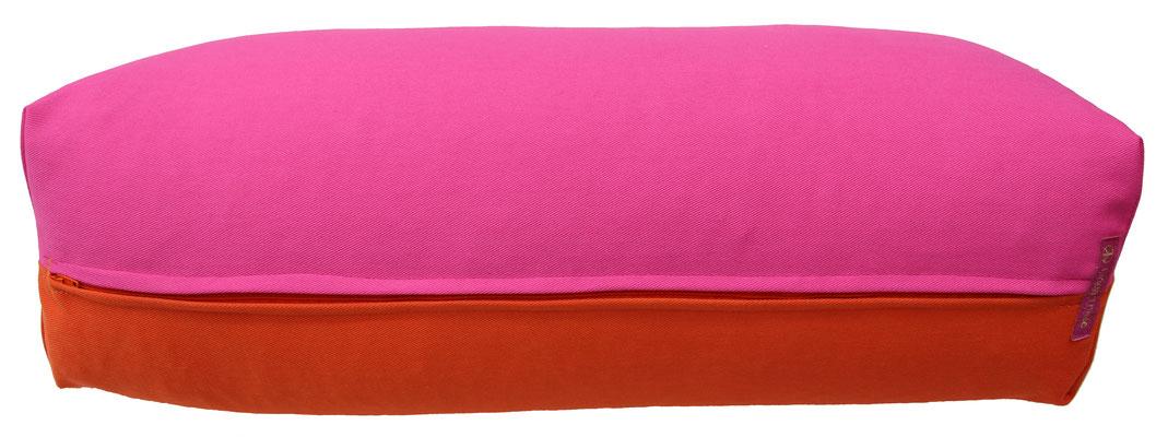 Yoga Bolster eckig Köln pink + dunkelorange