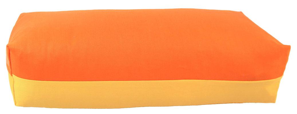 Yoga Bolster eckig Köln orange + sonne