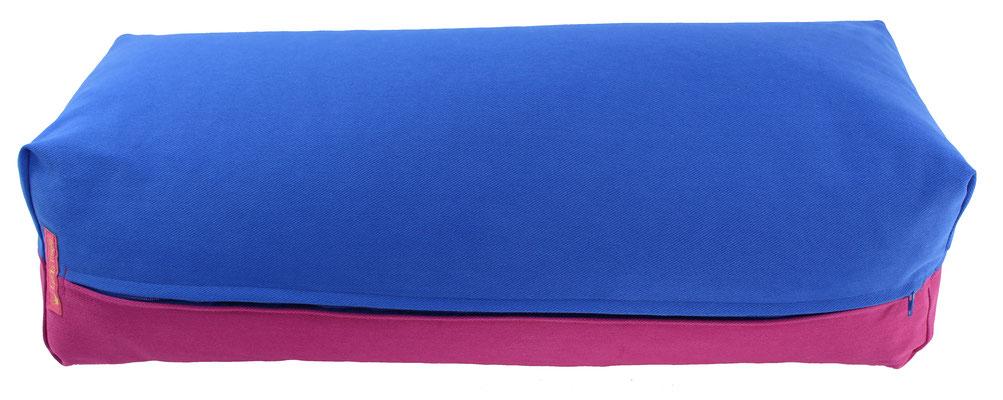 Yoga Bolster eckig Köln royal + rotviolett
