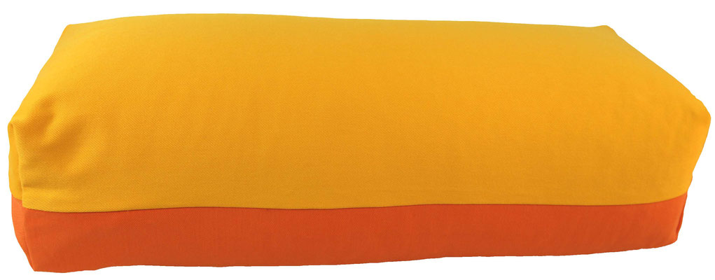 Yoga Bolster eckig Köln sonne + orange
