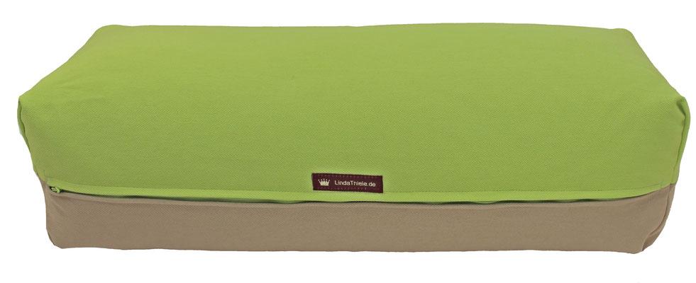 Yoga Bolster eckig Colorline hellgrün + beige
