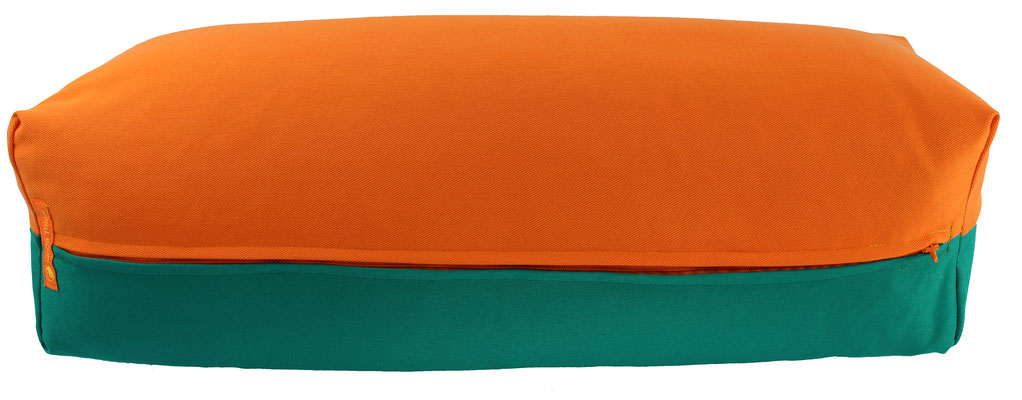 Yoga Bolster eckig Köln orange + seegrün