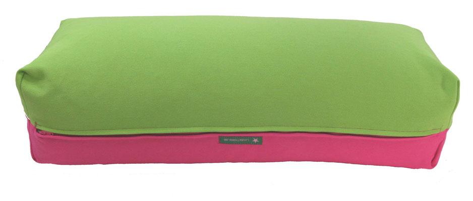 Yoga Bolster eckig Köln apfel + pink
