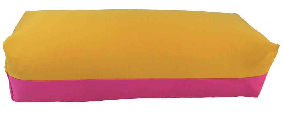 Yoga Bolster eckig Köln curry + pink