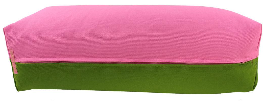 Yoga Bolster eckig Köln rosa + kiwi