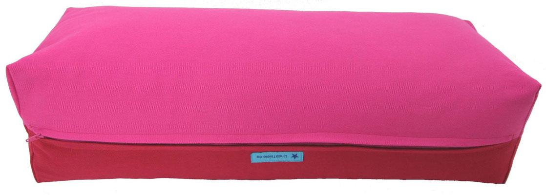 Yoga Bolster eckig Köln pink + kirschrot
