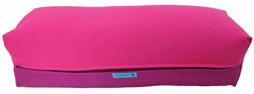 Yoga Bolster eckig Köln pink + rotviolett