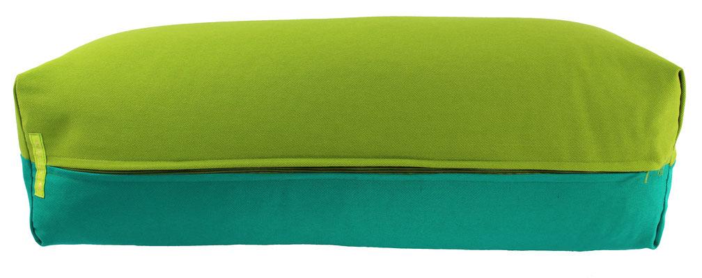 Yoga Bolster eckig Köln kiwi + seegrün