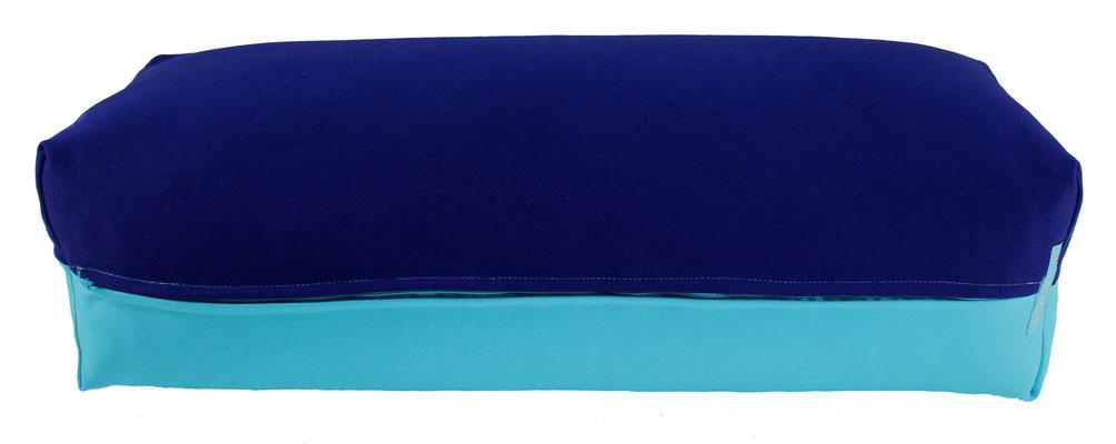 Yoga Bolster eckig Colorline tinte + türkis