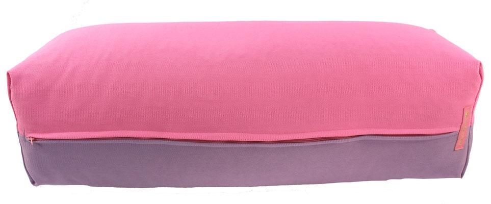 Yoga Bolster eckig Köln rosa + flieder
