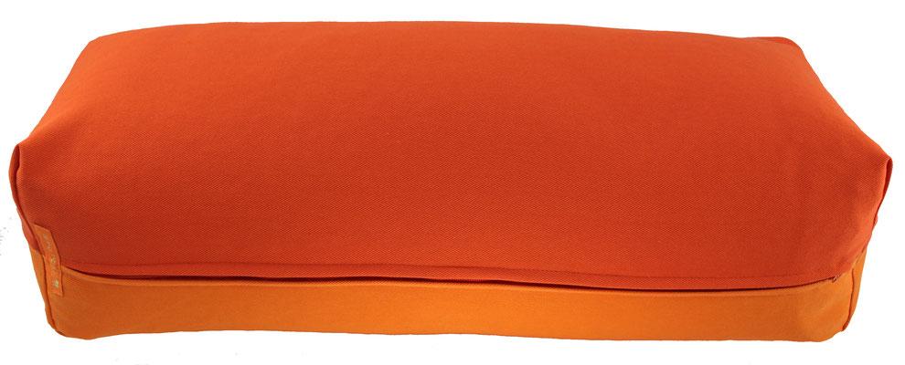 Yoga Bolster eckig Köln dunkelorange + orange