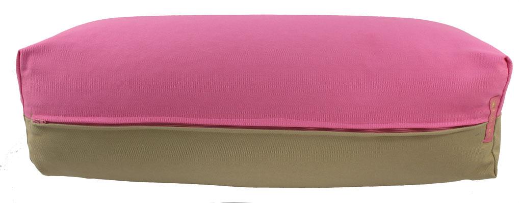 Yoga Bolster eckig Köln rosa + beige