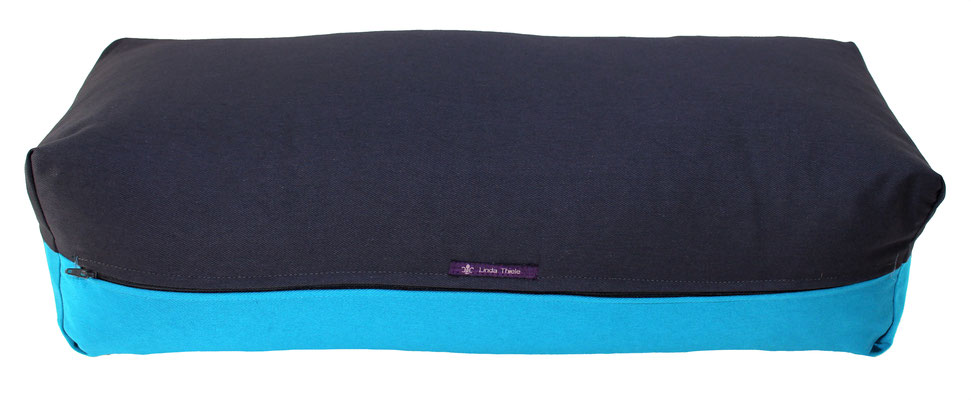 Yoga Bolster eckig Colorline anthrazit + türkis
