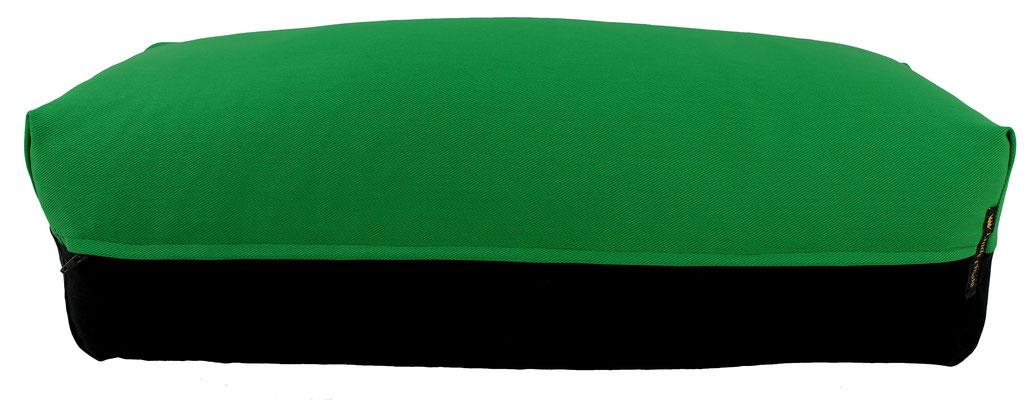 Yoga Bolster eckig Köln grasgrün + schwarz