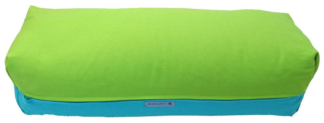 Yoga Bolster eckig Colorline apfel + türkis