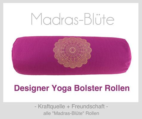 "Yoga Bolster Rollen ""Madras-Blüte"""