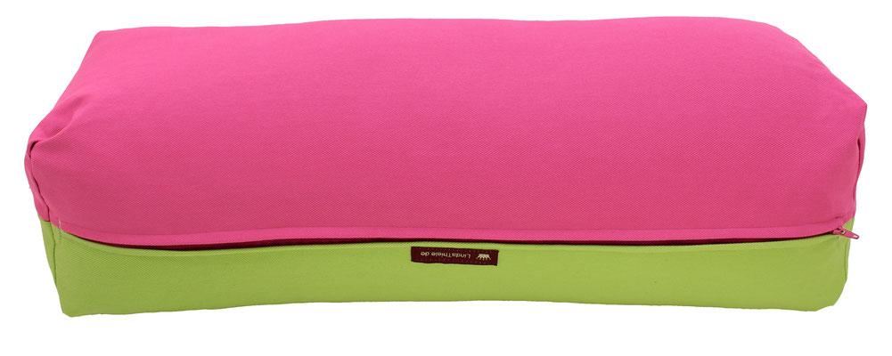 Yoga Bolster eckig Köln pink + hellgrün