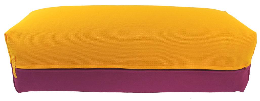 Yoga Bolster eckig Köln sonne + rotviolett