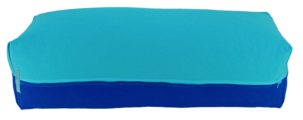 Yoga Bolster eckig Colorline türkis + royal