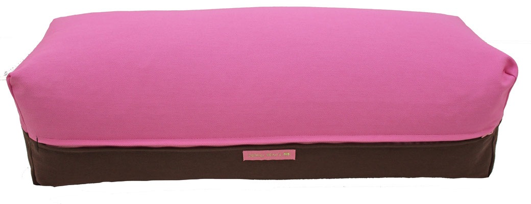 Yoga Bolster eckig Köln rosa + braun