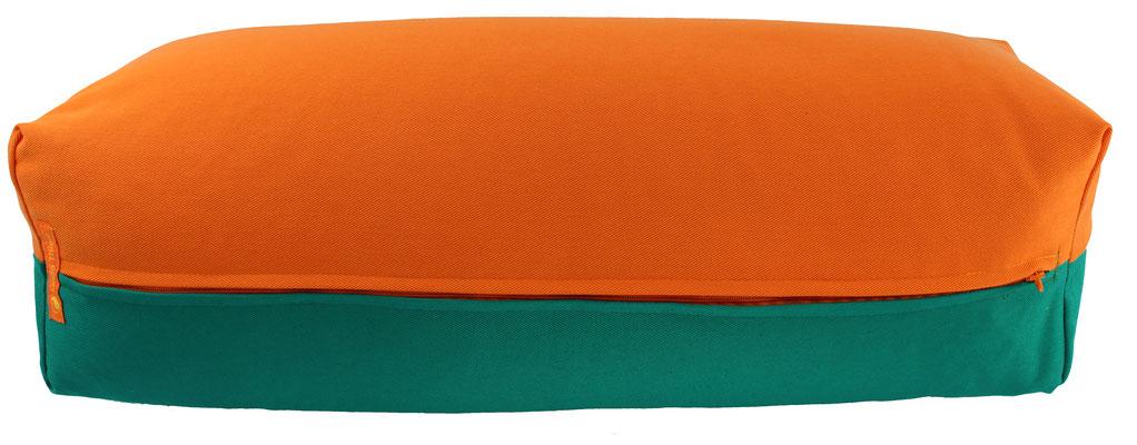 Yoga Bolster eckig Köln orange + seegrün