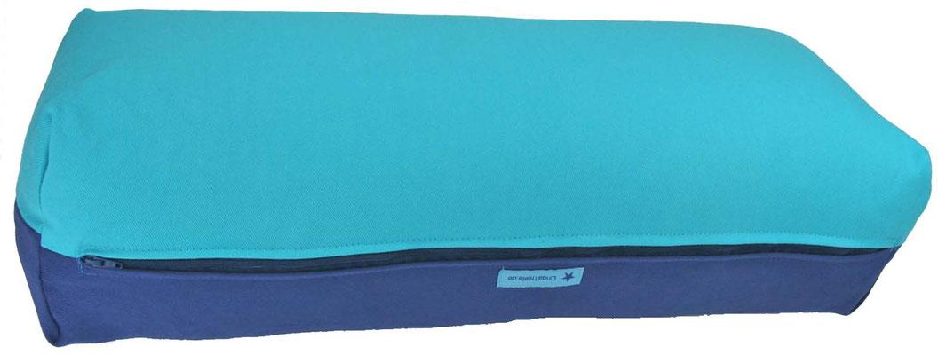 Yoga Bolster eckig Colorline türkis + jeansblau