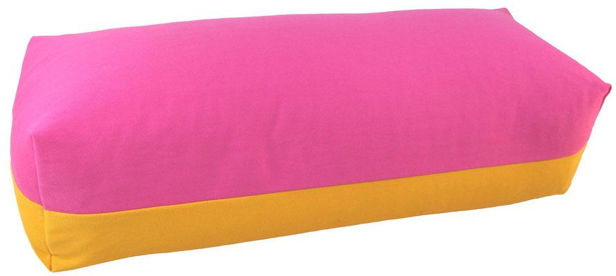 Yoga Bolster eckig Köln pink + curry