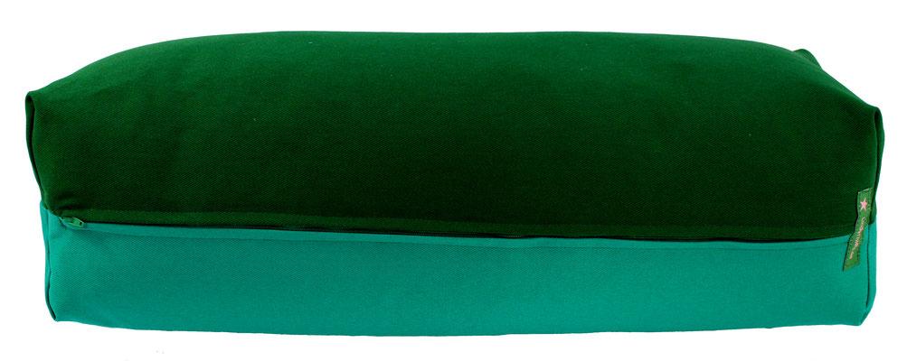 Yoga Bolster eckig Köln dunkelgrün + seegrün