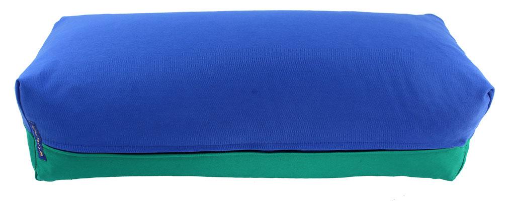 Yoga Bolster eckig Köln royal + seegrün