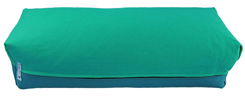 Yoga Bolster eckig Köln seegrün + petrol
