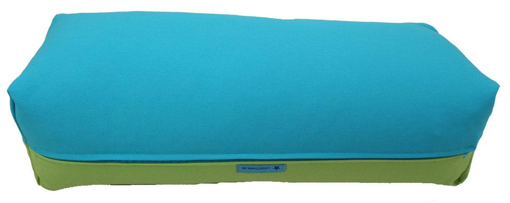 Yoga Bolster eckig Colorline türkis + hellgrün